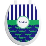 Alligators & Stripes Toilet Seat Decal (Personalized)