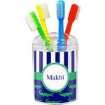 Alligators & Stripes Toothbrush Holder (Personalized)