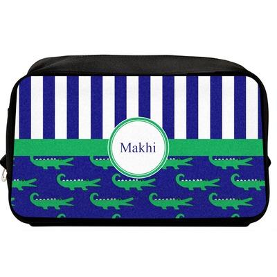 Alligators & Stripes Toiletry Bag / Dopp Kit (Personalized)