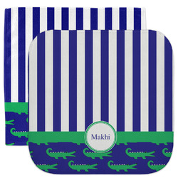 Alligators & Stripes Facecloth / Wash Cloth (Personalized)