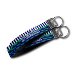 Alligators & Stripes Wristlet Webbing Keychain Fob (Personalized)