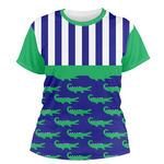 Alligators & Stripes Women's Crew T-Shirt (Personalized)