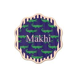 Alligators & Stripes Genuine Wood Sticker (Personalized)