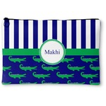 Alligators & Stripes Zipper Pouch (Personalized)