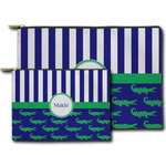 Alligators & Stripes Zipper Pouch (Personalized)