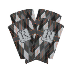 Modern Chic Argyle Can Cooler (Personalized)