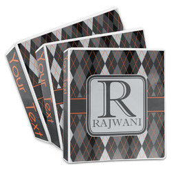 Modern Chic Argyle 3-Ring Binder (Personalized)