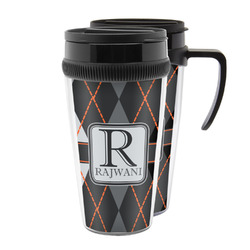 Modern Chic Argyle Acrylic Travel Mugs (Personalized)