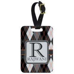 Modern Chic Argyle Aluminum Luggage Tag (Personalized)