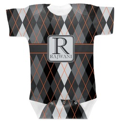 Modern Chic Argyle Baby Bodysuit (Personalized)