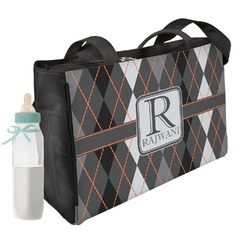 Modern Chic Argyle Diaper Bag (Personalized)