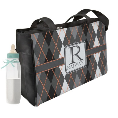 Modern Chic Argyle Diaper Bag w/ Name and Initial