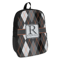 Modern Chic Argyle Kids Backpack (Personalized)