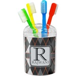 Modern Chic Argyle Toothbrush Holder (Personalized)