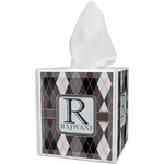 Modern Chic Argyle Tissue Box Cover (Personalized)