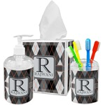 Modern Chic Argyle Bathroom Accessories Set (Personalized)