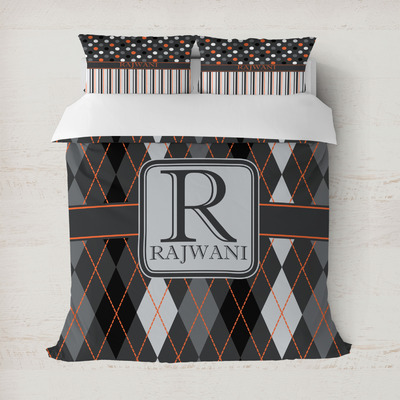 Modern Chic Argyle Duvet Cover (Personalized)