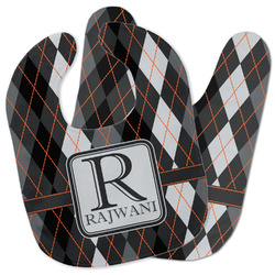 Modern Chic Argyle Baby Bib w/ Name and Initial