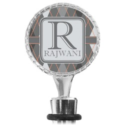 Modern Chic Argyle Wine Bottle Stopper (Personalized)