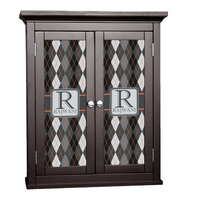 Modern Chic Argyle Cabinet Decal - Custom Size (Personalized)