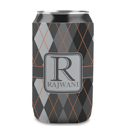 Modern Chic Argyle Can Sleeve (12 oz) (Personalized)