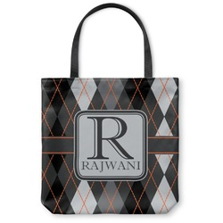 Modern Chic Argyle Canvas Tote Bag (Personalized)
