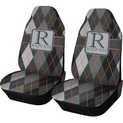 Modern Chic Argyle Car Seat Covers (Set of Two) (Personalized)