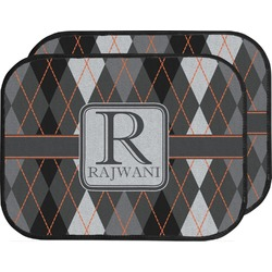Modern Chic Argyle Car Floor Mats (Back Seat) (Personalized)