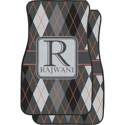 Modern Chic Argyle Car Floor Mats (Front Seat) (Personalized)