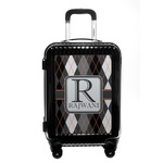 Modern Chic Argyle Carry On Hard Shell Suitcase (Personalized)