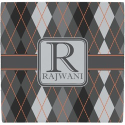 Modern Chic Argyle Ceramic Tile Hot Pad (Personalized)