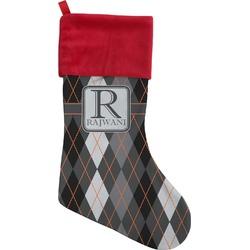 Modern Chic Argyle Christmas Stocking (Personalized)