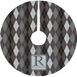 Modern Chic Argyle Tree Skirt (Personalized)