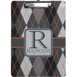 Modern Chic Argyle Clipboard (Personalized)