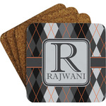 Modern Chic Argyle Coaster Set w/ Stand (Personalized)