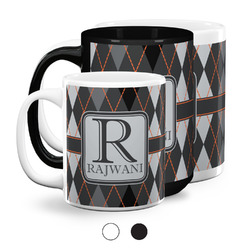 Modern Chic Argyle Coffee Mugs (Personalized)