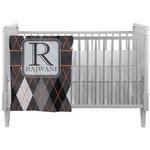 Modern Chic Argyle Crib Comforter / Quilt (Personalized)