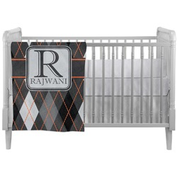 Modern Chic Argyle Crib Comforter / Quilt (Personalized)