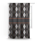 Modern Chic Argyle Curtain (Personalized)
