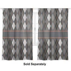 "Modern Chic Argyle Curtains - 56""x80"" Panels - Lined (2 Panels Per Set) (Personalized)"