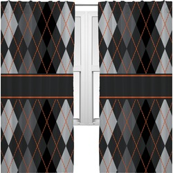 Modern Chic Argyle Curtains (2 Panels Per Set) (Personalized)