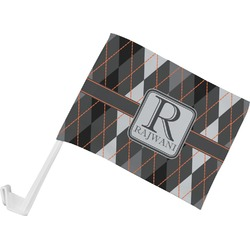 Modern Chic Argyle Car Flag (Personalized)
