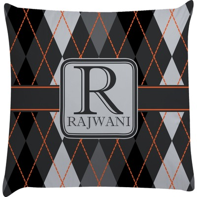 Modern Chic Argyle Decorative Pillow Case (Personalized)