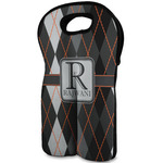 Modern Chic Argyle Wine Tote Bag (2 Bottles) (Personalized)