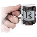 Modern Chic Argyle Espresso Cups (Personalized)