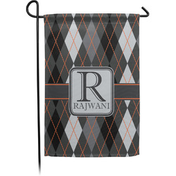 Modern Chic Argyle Garden Flag - Single or Double Sided (Personalized)