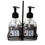 Modern Chic Argyle Soap & Lotion Dispenser Set (Glass) (Personalized)