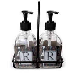 Modern Chic Argyle Soap & Lotion Dispenser Set (Glass) (Personalized)