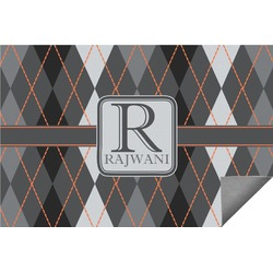 Modern Chic Argyle Indoor / Outdoor Rug (Personalized)
