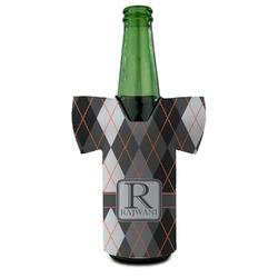 Modern Chic Argyle Bottle Cooler (Personalized)